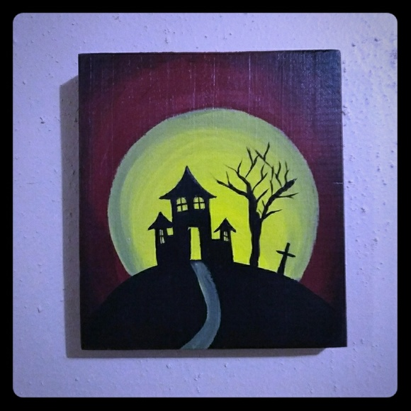 Hot Topic Other - Halloween Haunted House Wood Wall Decoration